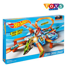 Hot Wheels Criss Cross Car Crash Track Set Cars Manoeuvre Loops Fun Game & Gift