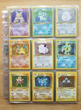 Pokemon Karten Sammlung Oldschool Komplettes Base Set Erste Edition ! Mint !