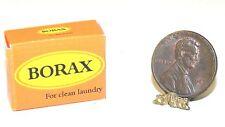 Dollhouse Miniature Vintage Label Borax Laundry Soap  Artisan Minis 1:12