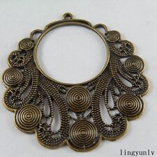 51015 Antique Bronze Alloy Whorl Pattern Jewelry Pendants Findings Crafts 4x