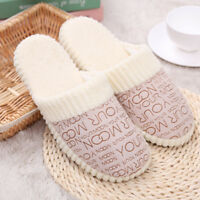Winter Warm Women Men Sole Soft Slippers Home Indoor Couple Non-slip Cosy Shoes