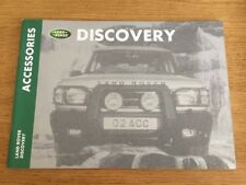 Land Rover Discovery Accessories Brochure 2000