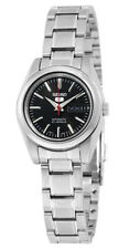 Seiko 5 SYMK17 Women's Stainless Steel Black Dial Day Date Automatic Watch