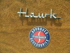 New ListingNos 1956 1957 1958 1959 1960 1961 Studebaker Hawk Chrome Emblem Mint Condition