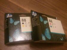 Genuine HP 88 NEGRO/AMARILLO, MAGENTA/CIAN los cabezales de impresión C9381A C9382A mismo Día post