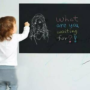 Removable For Kids Rooms Chalk Board Blackboard Vinyl Art Draw Stickers 45*200CM