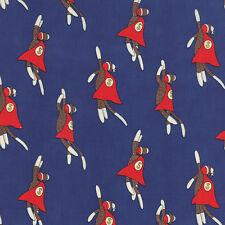 Monkey Tales Super Sock Monkey Royal Moda Quilt Fabric by the 1/2 yard