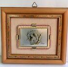 """Framed 3D Pic Italian Small 6 X 5"""" Art Creazioni Artistiche Wall decor Vintage"""