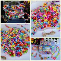 Set Lot 420pcs Mix Color Jewelry Beads For Kids Crafts DIY Educational Training