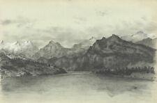 Adeline Frances Mary Dart, Lake Lucerne, Switzerland – 1867 graphite drawing