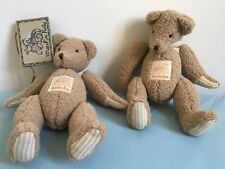 Moulin Roty lot de 2 peluches doudou ours ourson Barnabé Beige BARNABE