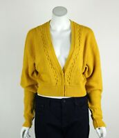 Free People Moon River Cardigan Sweater Cropped Dolman Sleeves Yellow Small New