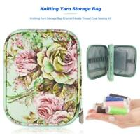 Knitting Yarn Storage Bag Case Crochet Hooks Thread Sewing Kits Organizer Holder