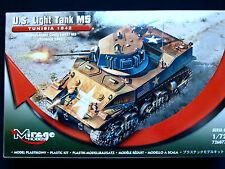 US LIGHT TANK M5, TUNISIA 1942, MIRAGE HOBBY 726077, SCALE 1/72