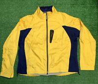 Vintage Polo Ralph Lauren RL67 Yellow Lightweight Jacket 90s Full Zip NWT Rare