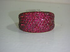 14K YELLOW GOLD PAVE THAI RUBY DOMED RING NEW SIZE 6