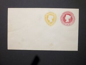 GB Stationery STO 1892 QV 3d carmine + 11/2d yellow Compound Envelope H&B ESC149