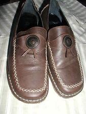 Schuhe Look Leder Braun 37