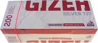 2000 x GIZEH Filter TUBES Silver Tip Paper Smoking Cigarette  UK FREE P&P