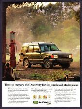 1985 Land Rover Discovery SUV Vintage Glass Gas Pump photo in Jungle print ad