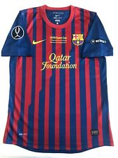 Nike 2011-12 Lionel Messi Barcelona Jersey Player Issue UEFA Supercup