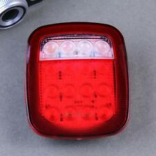 2X 16 LED Red White Sealed Truck Trailer Stud Mount Stop Turn Tail Back Up Light
