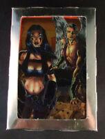 1996 Krome Razor Metal and Flesh Chromium Trading Card Set (90)