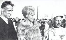 1962 Wire Photo auto racing winners Gurney & Moss Miss Universe Marlene Schmidt