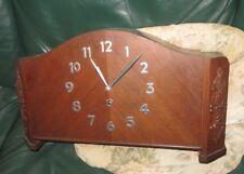 Inusual Art Decó Alemán Mantel Clock, día 8, 1940s-50s