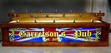 18 BEER TAP HANDLE DISPLAY Personal LIGHTED English Pub BRITISH FLAG BAR SIGN