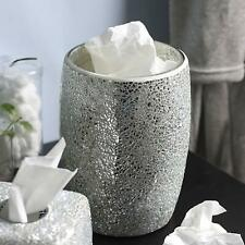 Decorative Silver Mosaic Glass Wastebasket/Trash Can - Bathroom Accessories
