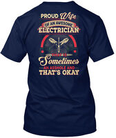 Electrician's Wife Proud Of An Electrician That Is Hanes Tagless Tee T-Shirt