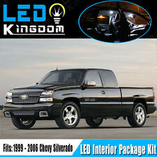 18PCS For 99-06 Chevy Silverado Car Interior LED Light Package Kit White Bulbs