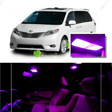 For Toyota Sienna 2011-2016 Pink LED Interior Kit + Pink License Light LED