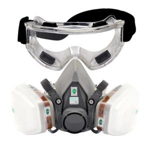 Masque chimique respirateur protection industriel Peinture Bricolage + lunette