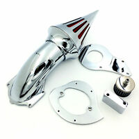 Black Triangle Spike Air Cleaner Kits Filter For Honda Shadow 600 Vlx600 1999-20