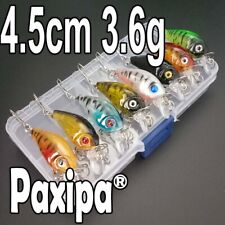 Boxed 8x Fishing Lures Crank Baits Bass Bream Shrimp Rattles Crankbait 4.5cm Box