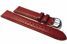Accurist Red Buffalo Grained Leather Watch Strap. 18mm