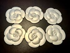 Lot Of 6 Chanel Camelia Flower Golden Paper Stickers