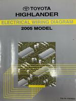 2005 Toyota Highlander Electrical Wiring Diagram Repair Manual Ebay
