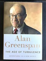 The Age of Turbulence: Adventures in a New World by Alan Greenspan Hardcover -AV