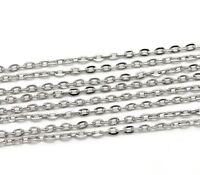 1m Chaine maille Forçat chainette Argenté 4,5mm x 3mm maillon creation bijoux