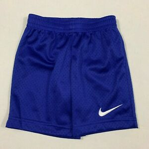 Nike NWT Size 4 Boys Mesh Lined Shorts Athletic Deep Royal Blue White Swoosh