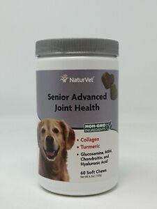 NaturVet SENIOR Dog Advanced Joint Health Glucosamine 60 soft chews Ex:03/23 #25