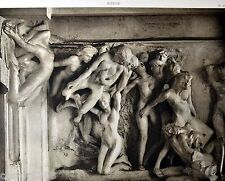HELIOGRAVURE Auguste RODIN PORTE DE L'ENFER TYMPAN 2 28,3x21,5 cm