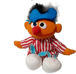 "TYCO 1996 Sesame Street Sing & Snore Ernie Talking Plush Pajamas Working 19"" Tal"
