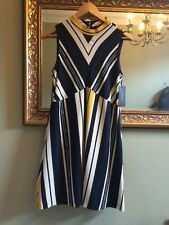 ZARA Stripe Dress Size Medium UK 10 Wedding Occasion Party