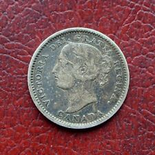 Canada 1891 silver 10 cents 22 leaves type