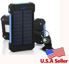 100% Waterproof Solar Power Bank 10000mah Dual USB Mobile Solar Charger