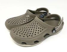 Crocs Swiftwater Deck Clog Khaki/Oyster Mens Size 8 New
